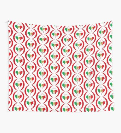 Mexican Canadian Multinational Patriot Flag Series Wall Tapestry