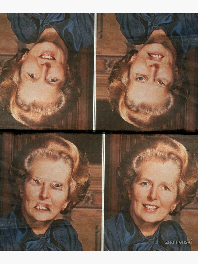 Margaret Thatcher upside down Face. Thatcher illusion. Thatcher Effect by znamenski