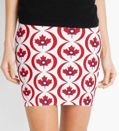 Taiwanese Canadian Multinational Patriot Flag Series Mini Skirt