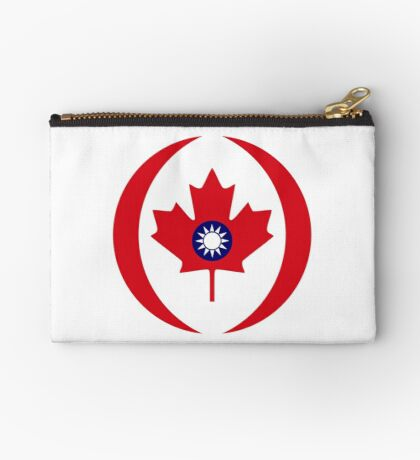 Taiwanese Canadian Multinational Patriot Flag Series Zipper Pouch