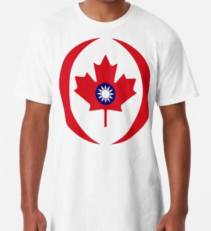 Taiwanese Canadian Multinational Patriot Flag Series Long T-Shirt