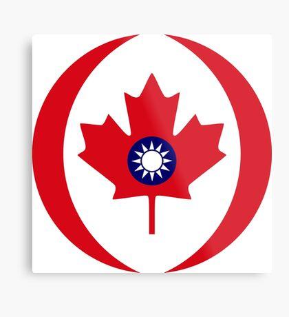 Taiwanese Canadian Multinational Patriot Flag Series Metal Print