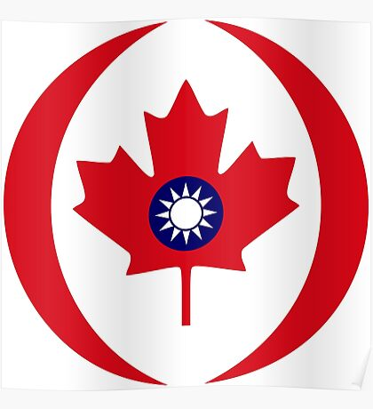 Taiwanese Canadian Multinational Patriot Flag Series Poster