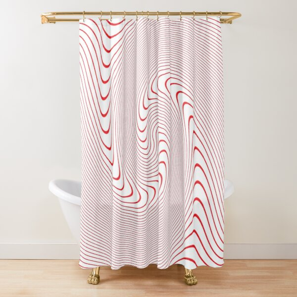 Drawings of a Wave, #Spiral, #Symmetry, #illusion, #drawings, wave Shower Curtain
