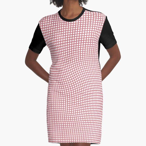 Tartan, Cloth, #drawings, illusion, wave Graphic T-Shirt Dress