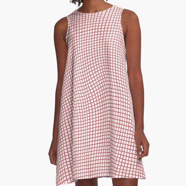 Tartan, Cloth, #drawings, illusion, wave A-Line Dress