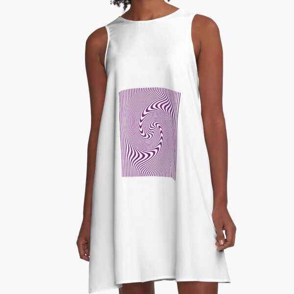 #Symmetry, #illusion, #drawings, wave A-Line Dress