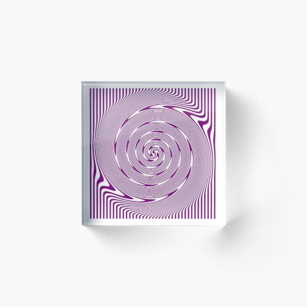 #ilussion, #Symmetry, #Spiral, #drawings, wave Acrylic Block