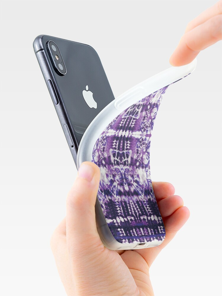 Alternate view of Tie-Dye Spiral Shibori iPhone Case & Cover