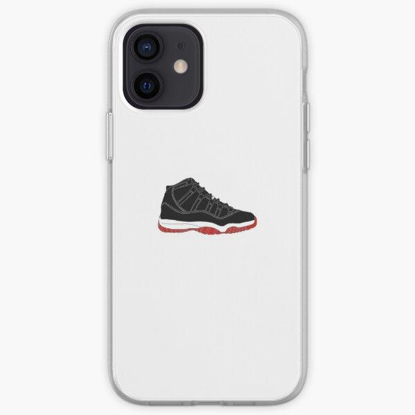 "Air Jordan XI (11) ""Bred"" Coque souple iPhone"