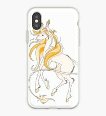 Yellow Unicorn iPhone Case