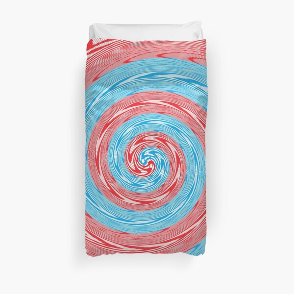 Op art - art movement, short for optical art, is a style of visual art that uses optical illusions Duvet Cover