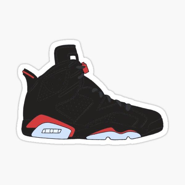 "Air Jordan VI (6) ""Black Infrared"" Sticker"