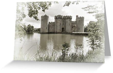 Bodiam Castle, East Sussex, England by Bob Culshaw
