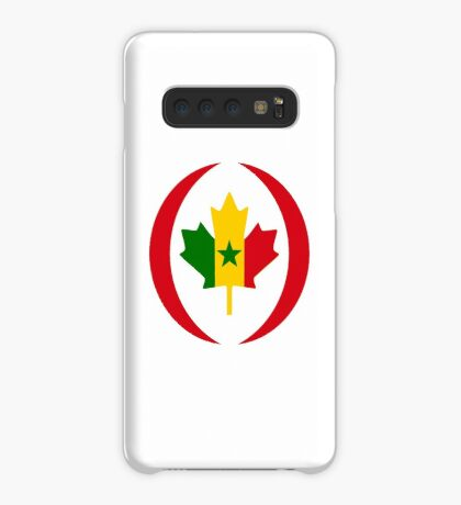 Senegalese Canadiain Multinational Patriot Flag Series Case/Skin for Samsung Galaxy