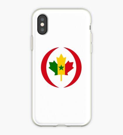 Senegalese Canadiain Multinational Patriot Flag Series iPhone Case