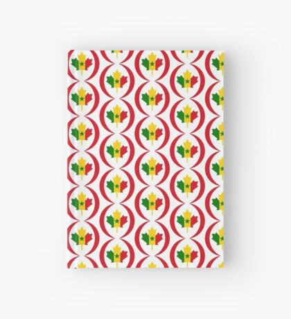 Senegalese Canadiain Multinational Patriot Flag Series Hardcover Journal