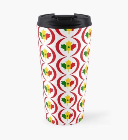 Senegalese Canadiain Multinational Patriot Flag Series Travel Mug