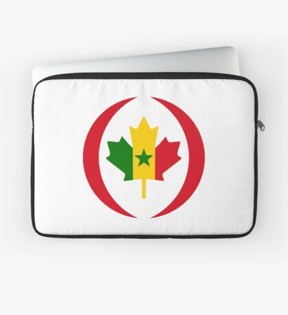 Senegalese Canadiain Multinational Patriot Flag Series Laptop Sleeve