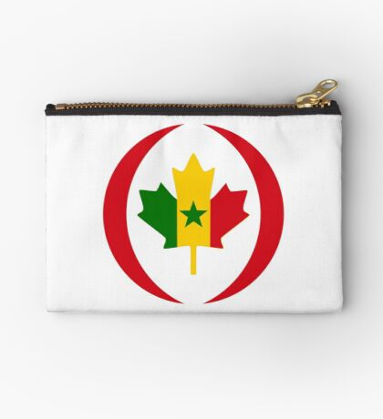 Senegalese Canadiain Multinational Patriot Flag Series Zipper Pouch