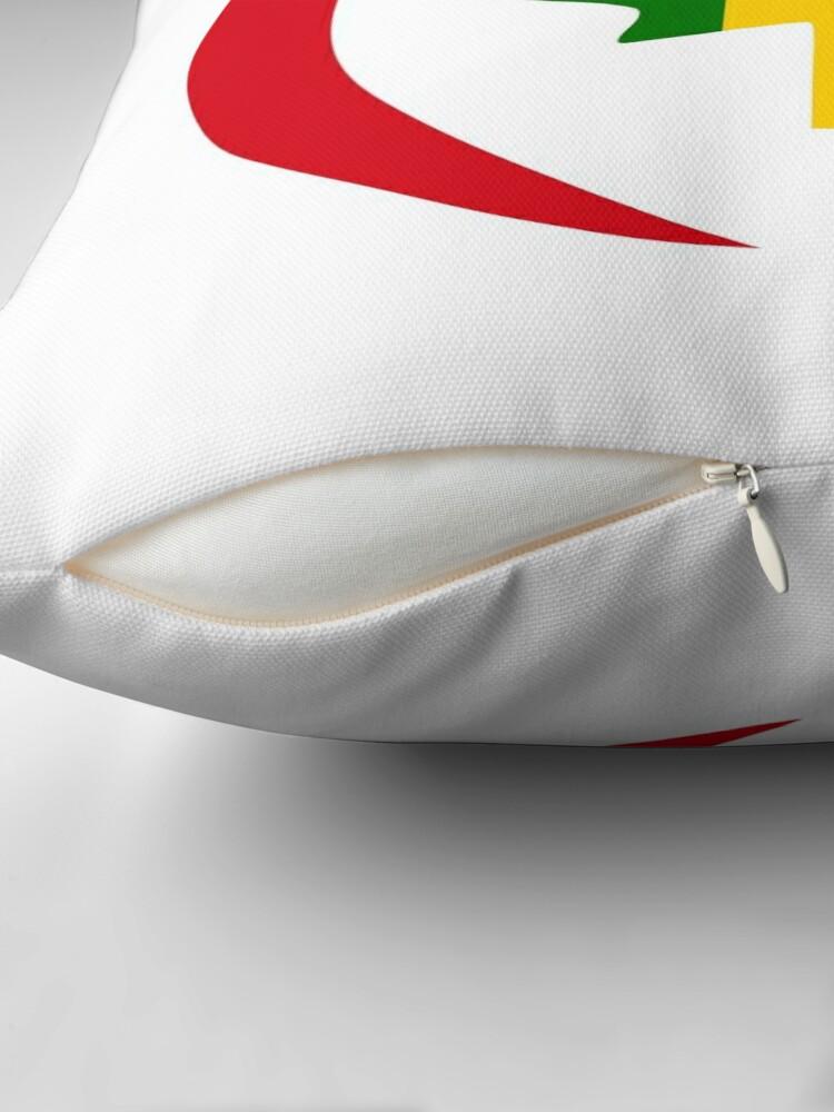 Alternate view of Senegalese Canadiain Multinational Patriot Flag Series Throw Pillow
