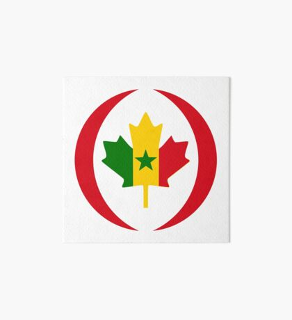 Senegalese Canadiain Multinational Patriot Flag Series Art Board Print