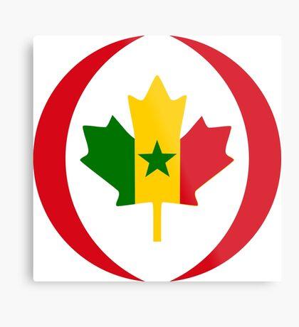 Senegalese Canadiain Multinational Patriot Flag Series Metal Print