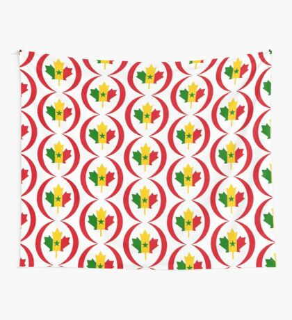 Senegalese Canadiain Multinational Patriot Flag Series Wall Tapestry