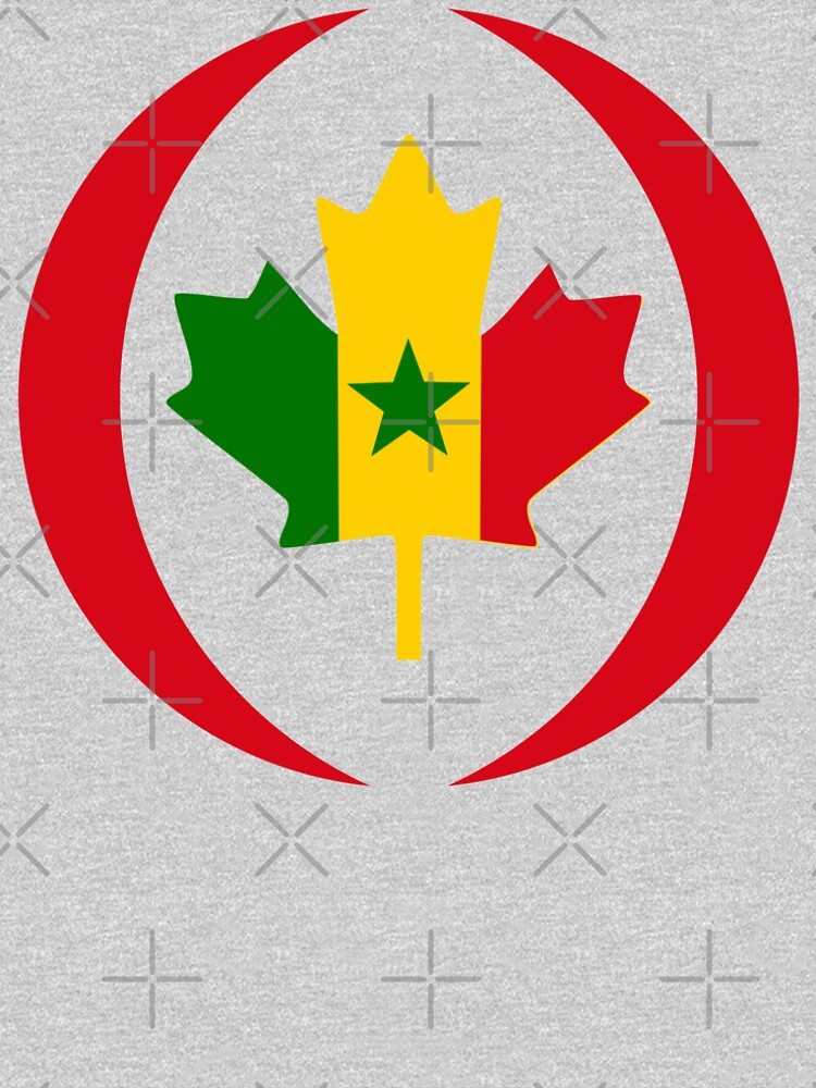 Senegalese Canadiain Multinational Patriot Flag Series by carbonfibreme