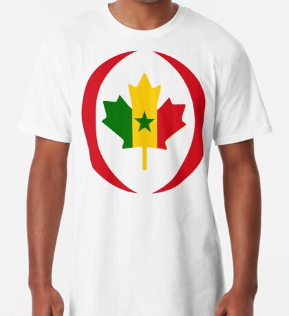 Senegalese Canadiain Multinational Patriot Flag Series Long T-Shirt