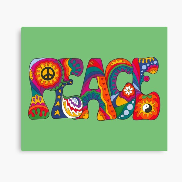Psychedelic Peace Canvas Print