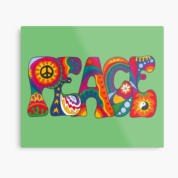 Psychedelic Peace Metal Print