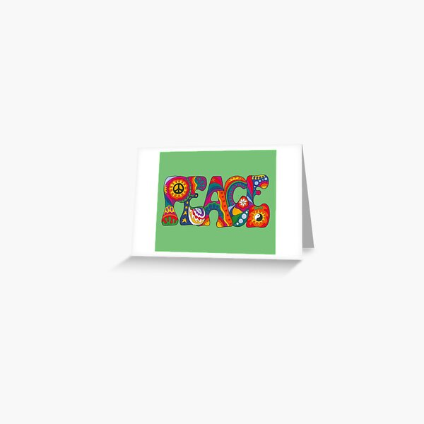 Psychedelischer Frieden Grußkarte