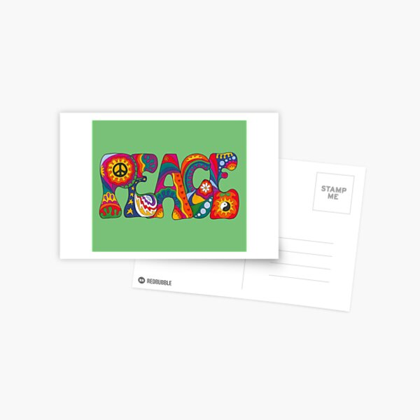 Psychedelic Peace Postcard
