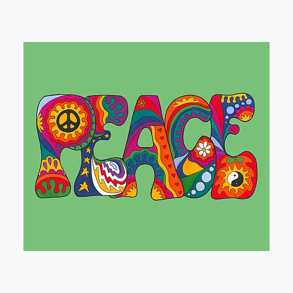 Psychedelic Peace Photographic Print
