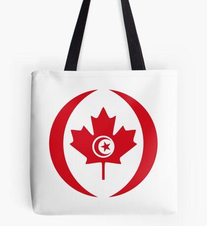 Tunisian Canadian Multinational Patriot Flag Series Tote Bag