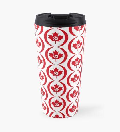 Tunisian Canadian Multinational Patriot Flag Series Travel Mug