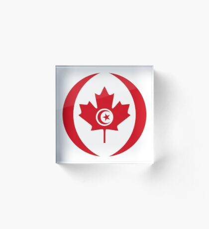 Tunisian Canadian Multinational Patriot Flag Series Acrylic Block