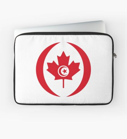 Tunisian Canadian Multinational Patriot Flag Series Laptop Sleeve