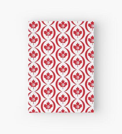 Tunisian Canadian Multinational Patriot Flag Series Hardcover Journal