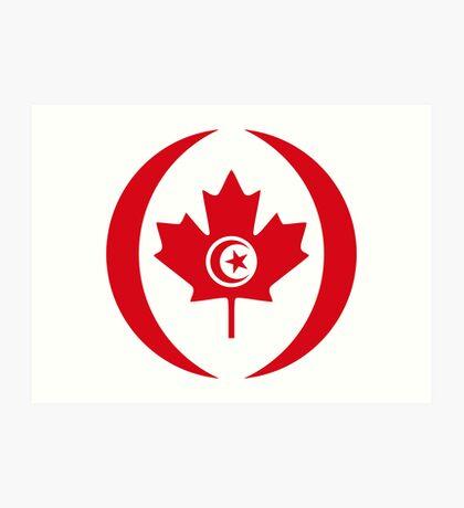 Tunisian Canadian Multinational Patriot Flag Series Art Print
