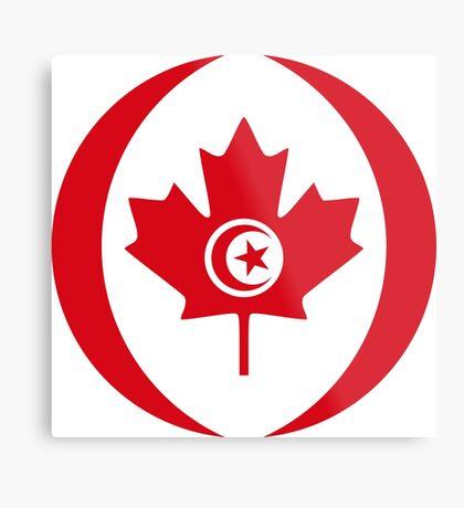 Tunisian Canadian Multinational Patriot Flag Series Metal Print