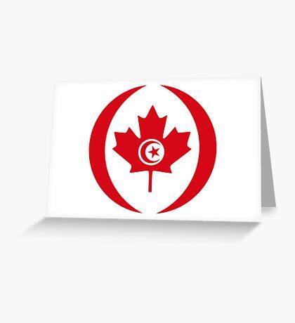 Tunisian Canadian Multinational Patriot Flag Series Greeting Card