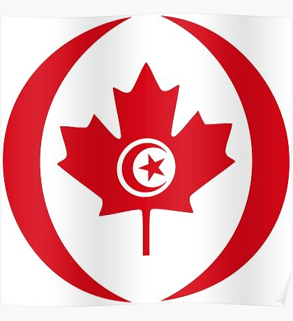 Tunisian Canadian Multinational Patriot Flag Series Poster