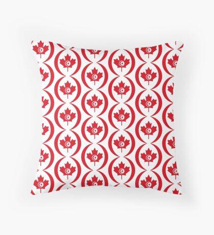 Tunisian Canadian Multinational Patriot Flag Series Floor Pillow