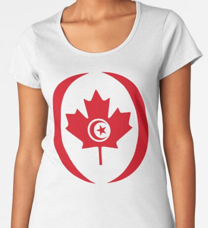 Tunisian Canadian Multinational Patriot Flag Series Premium Scoop T-Shirt