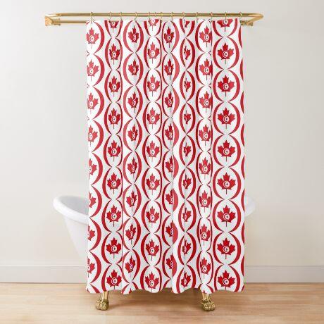 Tunisian Canadian Multinational Patriot Flag Series Shower Curtain