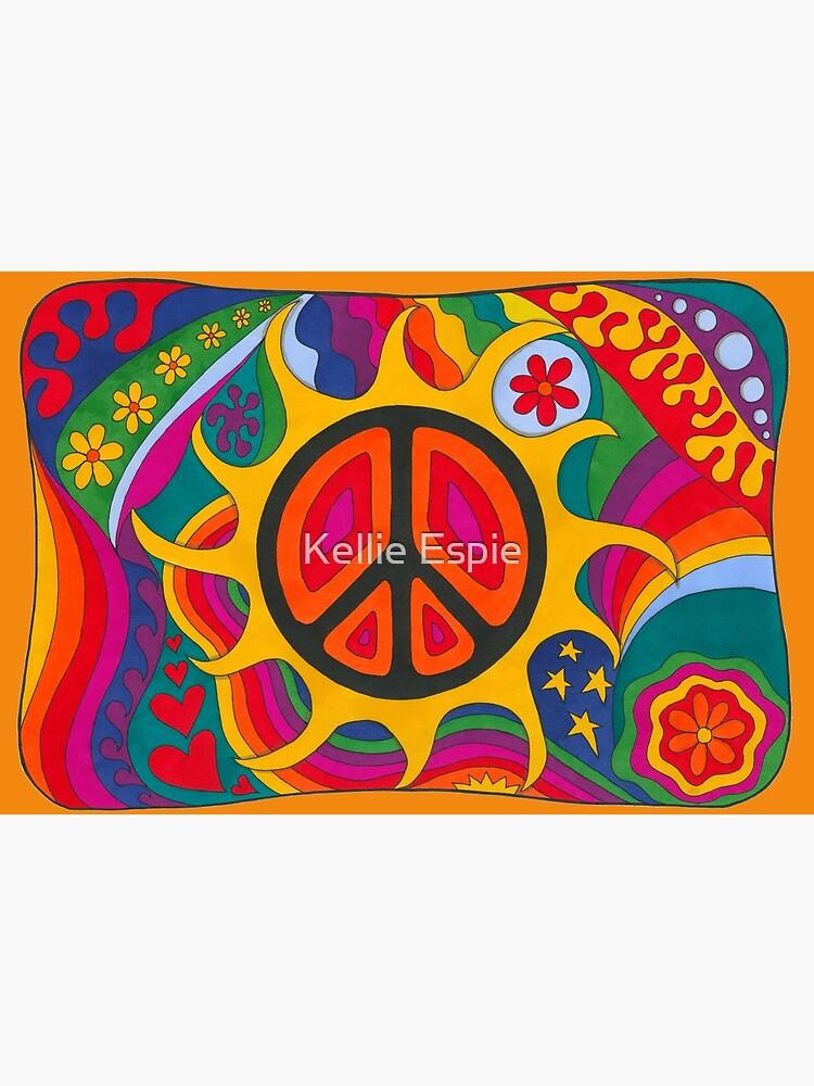 Psychedelic Flaming Peace by kelkel66