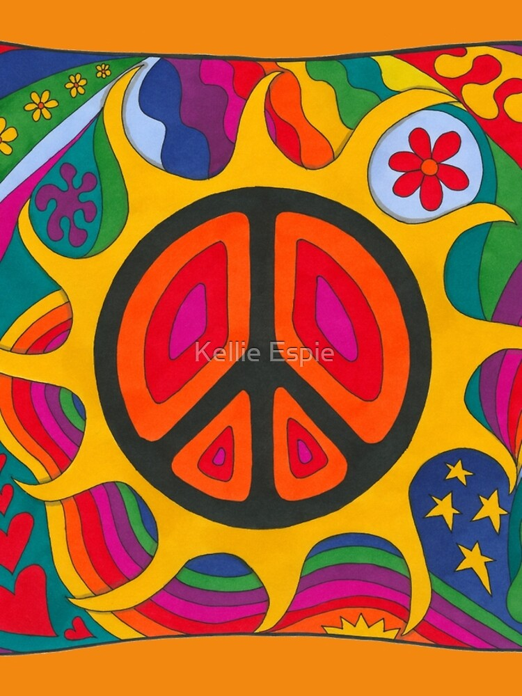Psychedelic Flaming Peace by kelkel66