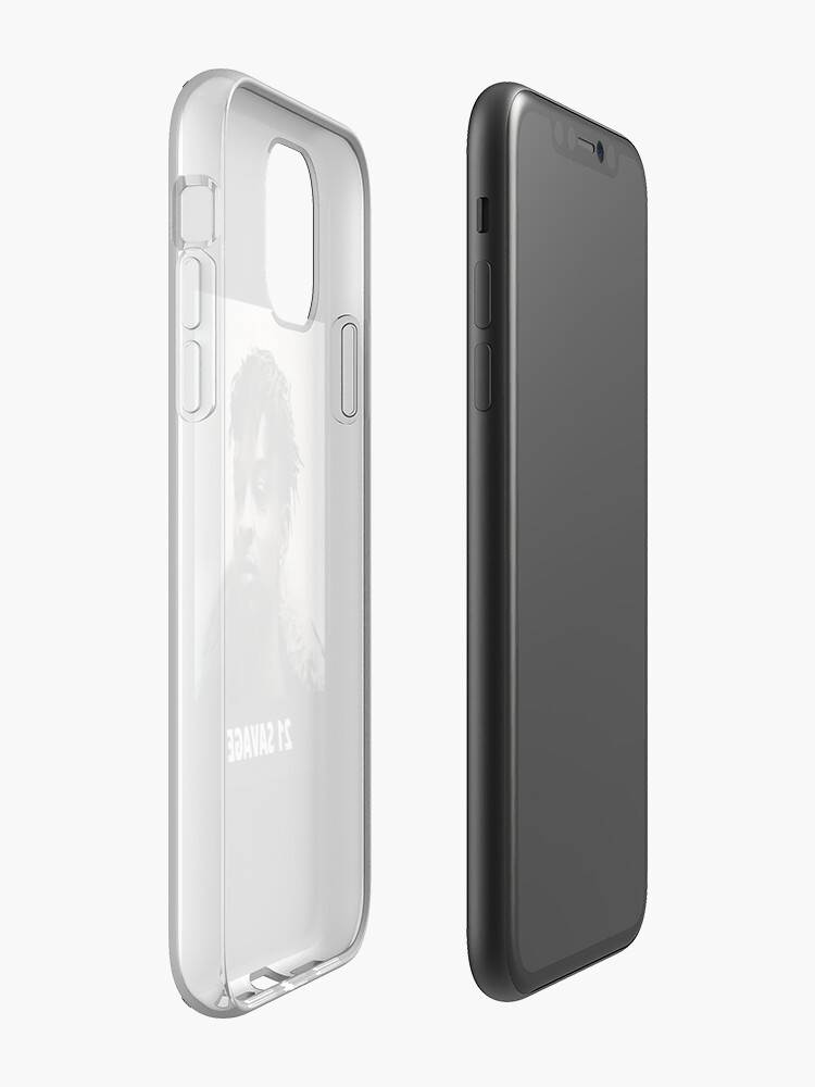 coque iphone 8 a clapet , Coque iPhone « 21 sauvage », par bones34